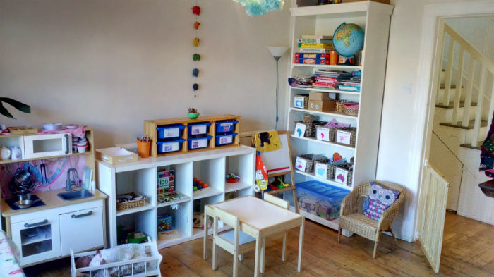 Wide picture of the playroom