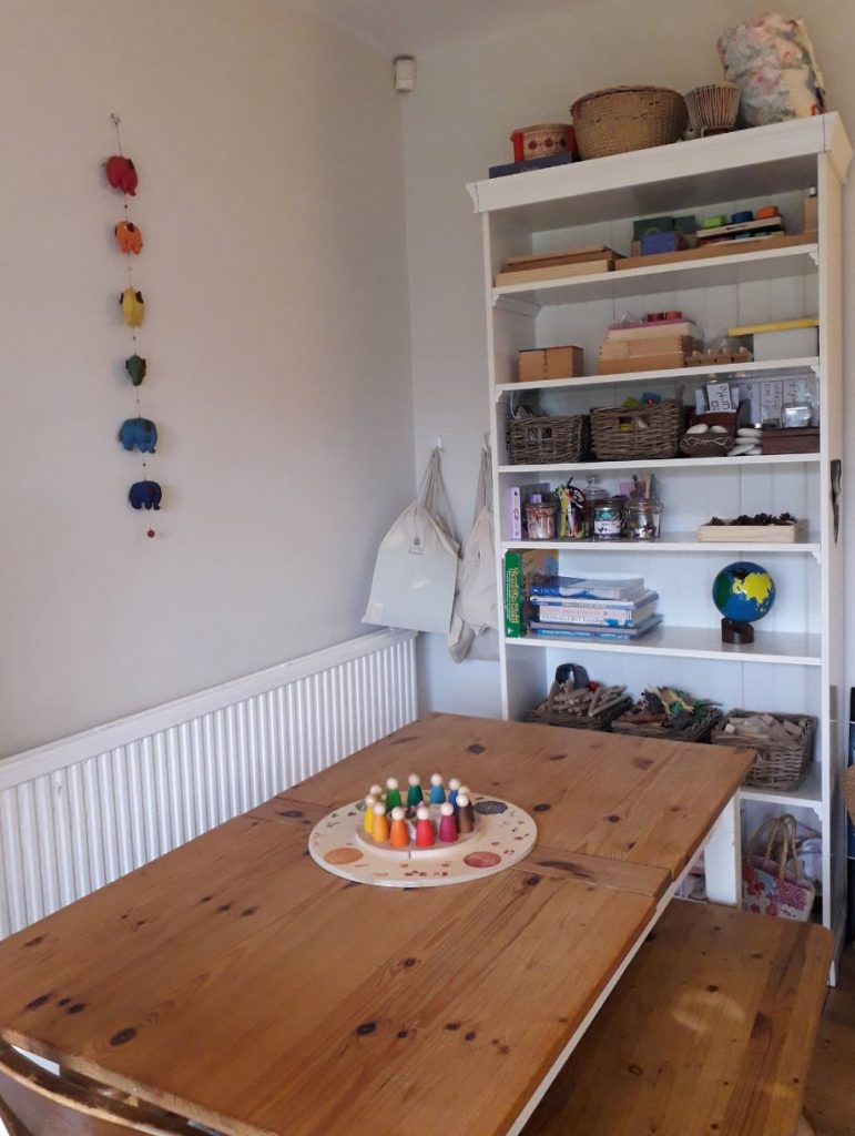 The table in the playroom