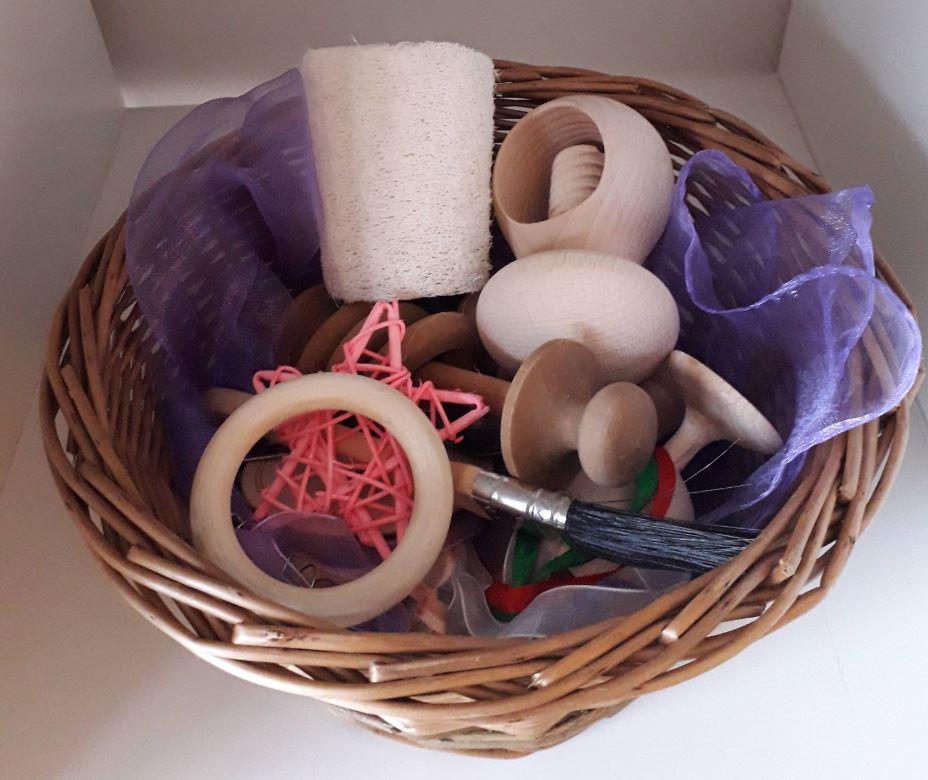 A tactile treasure basket